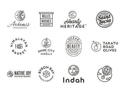 monoline logos simple minimal illustration monoline drawing logo