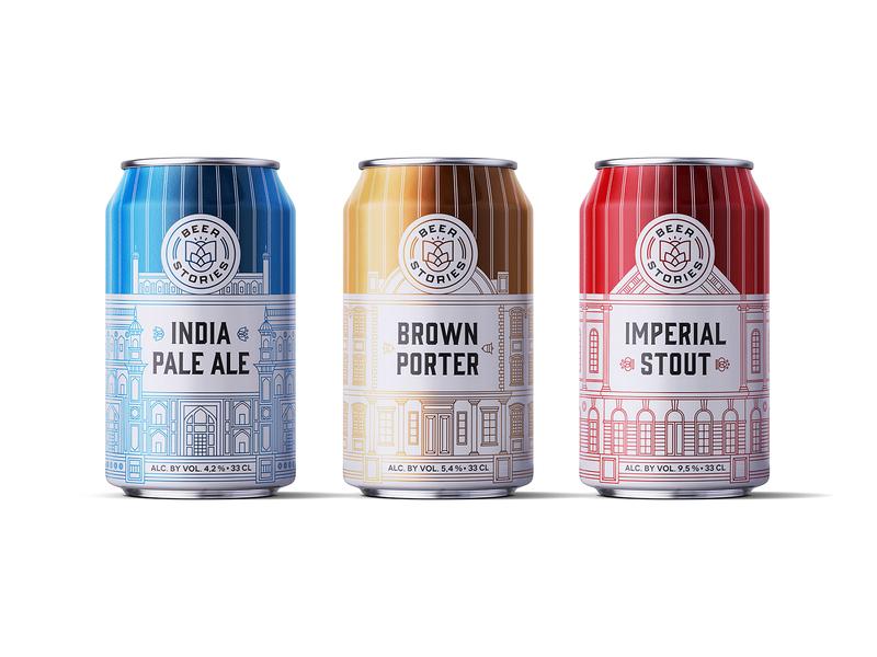 Beer Stories Concept beer label monoline stout ale proter house beer bottle illustration drawing