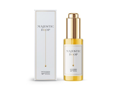 cosmetic box and label design gold cosmetic serum drop minimal box bottle