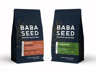 Rebranding for coffee company label drink monoline illustration bag coffee