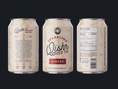 Label for coffee beverage packaging graphic design illustration monoline can beverage drink label coffee