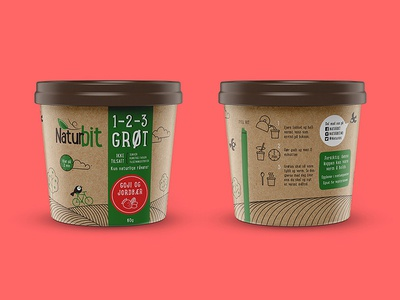 Packaging concept for Nordic based health brand 3 snack bar energy monoline porridge healh green craft organic