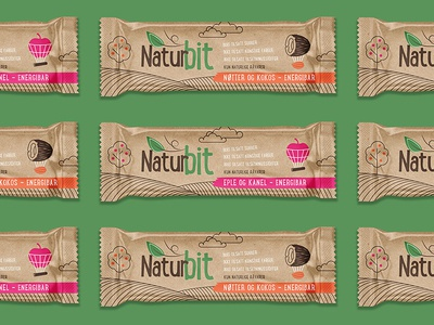Packaging concept for Nordic based health brand 4 snack bar energy monoline porridge healh green craft organic