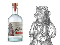 """Label for GIN """"The Gypsy"""""""