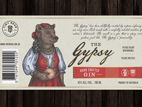 """Label for GIN """"The Gypsy"""" - whole label"""
