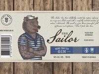 """Label for GIN """"The Sailor"""" - whole label"""