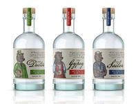 Labeis for Tiny Bear Distillery