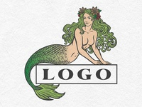 Unused proposal for mermaid logo
