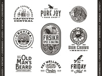 Collection of vintage logos and logomarks