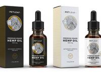 Unused concept of hemp oil for pets