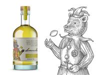 Label for lemon liqueur