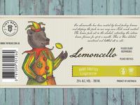 Label for lemon liqueur flat version