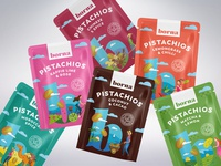Packaging for a range of flavoured nuts - all flavors