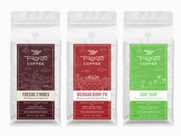 Labels for flavored coffee