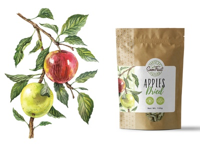 Dried fruits packaging serie - apple