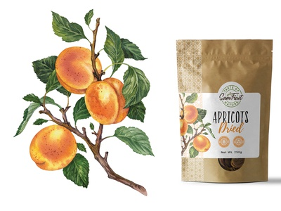 Dried fruits packaging serie - apricots