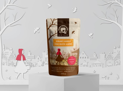 Package and illustrations for sugar roasted nuts company