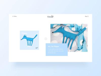 Needle / Open Product Card / Animation