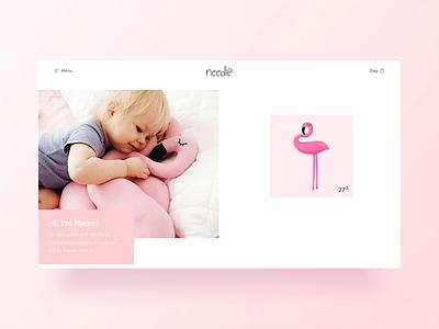 Needle / Add To Bag / Animation principle product page product card website design project dribbble animation design ecommerce web illustration interface webdesign website ux ui