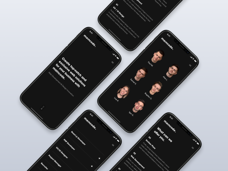 Mobile Design typography branding project dribbble interface website webdesign design web ux ui
