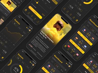 Golden Ball Mobile App Design
