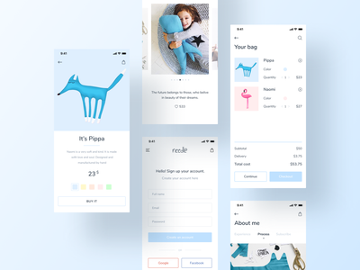 Needle / Mobile Version product page product card website design project dribbble animation design ecommerce web illustration interface webdesign website ux ui mobile design mobile app adaptive design responsive website responsive design