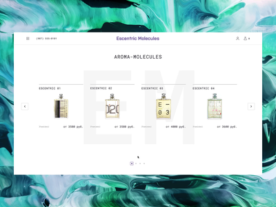 Escentric Molecules / Hover Animation parfum brand product card glitch effect glitch ecommerce shop ecommerce design ecommerce website project interface webdesign design animation web ux ui