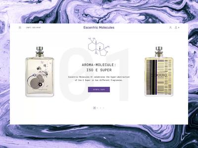 Escentric Molecules / Aroma Molecules Animation brand fasion parfum ecommerce design shop ecommerce shop project ecommerce website interface webdesign design animation web ux ui