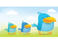 3 Bird Walking