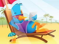 Blue Bird On Vacation