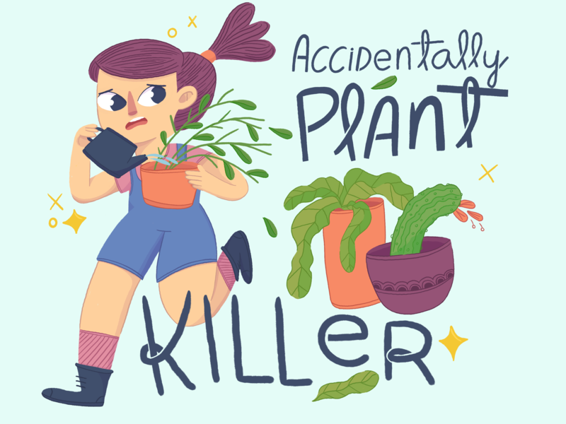 Plant Killer procreate app arte digital arte ilustracion illustration