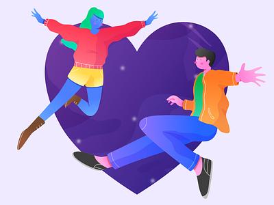 valentine design flat vector illustration swee couple love valentine day valentine vector web modern illustration