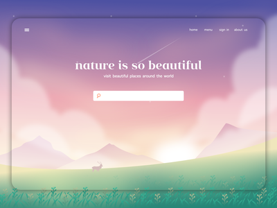 Nature - Home page nature illustration website landing page home page web illustration design