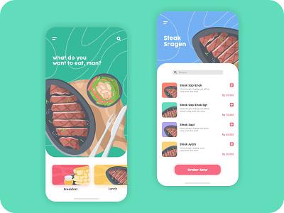 hunting restaurant - app aplication restaurant food app design app illustrations vector branding flat modern concept illustration design ux ui