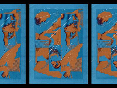 K9 illustration poster texture abstract bark pet shepherd collage dog