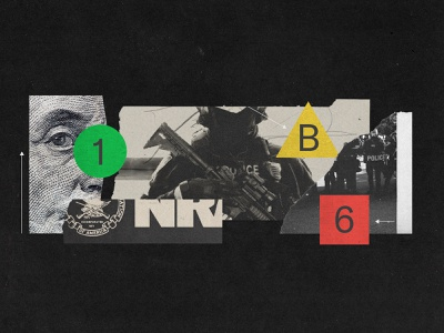 NRA & The Police money political collage art guns police illustrations collage