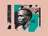 Eliud Kipchoge illustraion athlete collage wings run running nike marathon eliud kipchoge