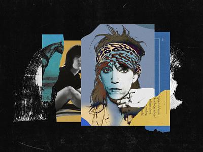 Patti Smith punk patti smith illustration music collage