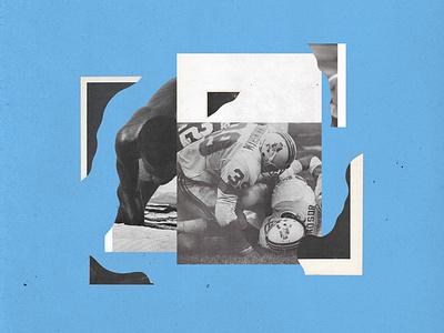 Analog Collage analog football collage