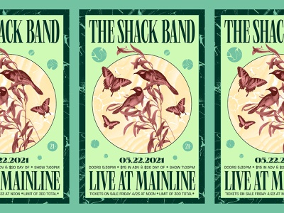 The Shack Band virginia richmond illustration collage poster