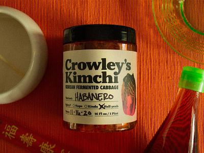 Crowley's Kimchi kimchi food label design package design