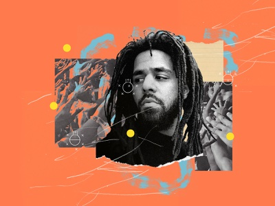a p p l y i n g . p r e s s u r e basketball album art music hiphop rap j.cole jcole poster collage