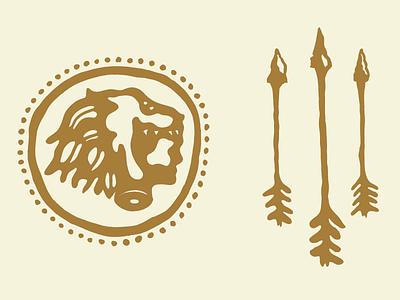 Heracles nemean heracles hercules arrow lion logo mythology greek