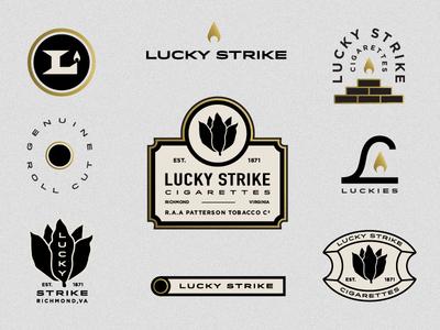 Lucky Strike Elements brick leaf tobacco gold fire flame richmond strike lucky