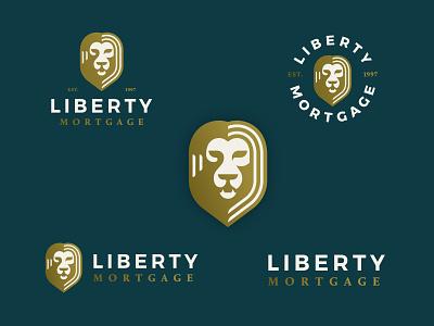 LM Logo lion cat logo badge