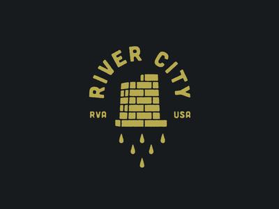 River City badge water drop virginia richmond brick river