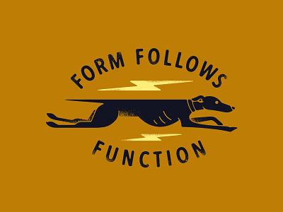 Form Follows Function running run lightning fast speed dog greyhound