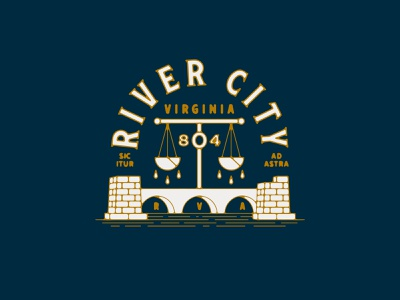 River City Reject water scale brick virginia richmond river bridge