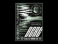 Black Cat Running Cult Poster