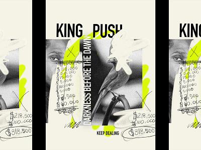 King Push graffiti collage virginia bird cardina pusha-t hip hop rap